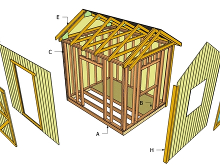 Blueprints to Build a Shed Storage Shed Building Plans