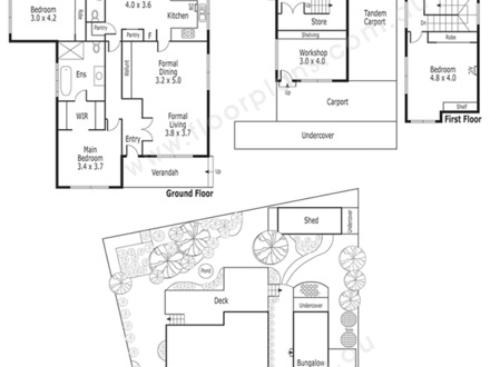 Residential floor plans with dimensions for Residential site plan