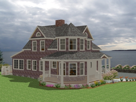 Country cottage house plans with porches small country for Maine house plans