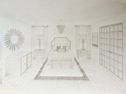 One Point Perspective Photography One Point Perspective Drawing Room
