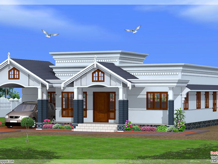 Single Story Country House Kerala Single Story House Plans