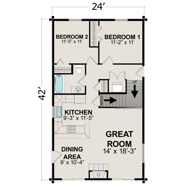 Bedroom House Plans Under X Feet on