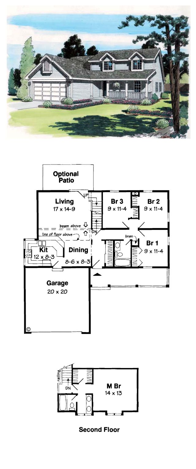 Small saltbox home plans traditional saltbox house plans for Small traditional home plans