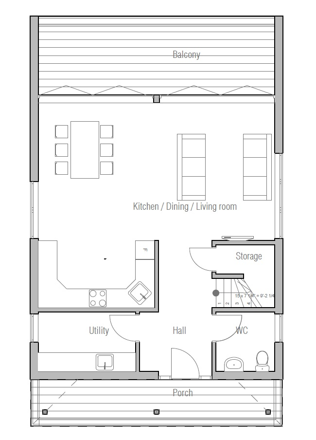 Small two bedroom house plans small affordable house plans for Affordable floor plans to build