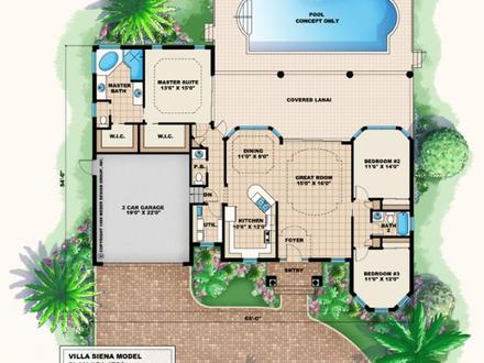 Tuscan Villa Design Mediterranean Villa Design Home Plans