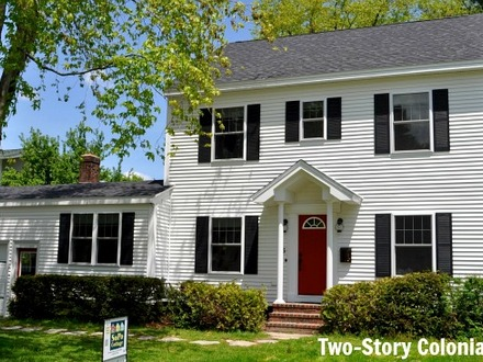 Cape cod style homes colonial style homes for sale in for Three story house for sale