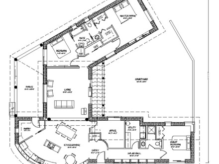 Interior courtyard house plans small courtyard house plans for House plans with courtyards in center