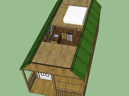 Graceland 12 X 24 Deluxe Lofted Barn Cabin Floor Plan 12 X 24 Shed