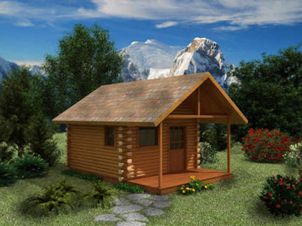 Simple small house floor plans small cabin floor plans for Small cabin construction
