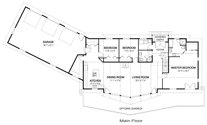 One Level Ranch Style Home Floor Plans Luxury One Level House Plans