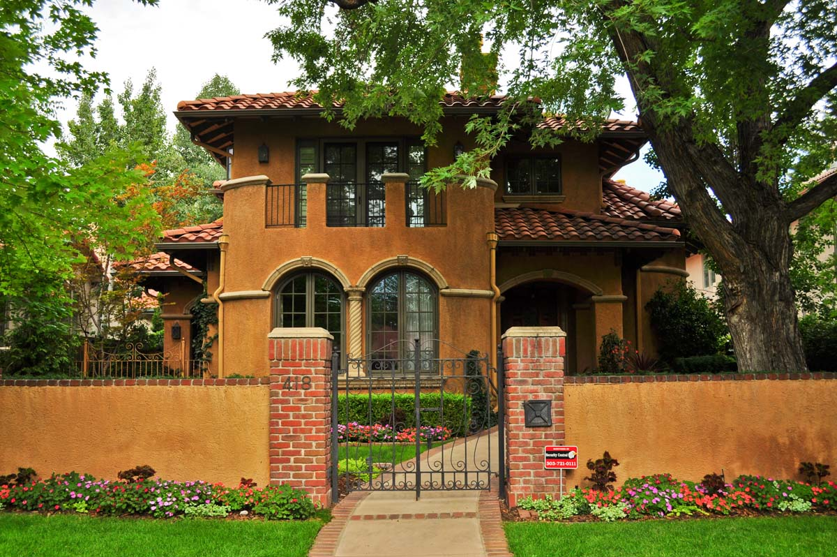Small spanish style homes metal roof spanish style ranch for Ranch style metal homes
