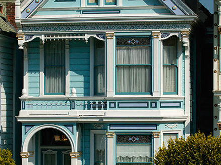 Blue Victorian House San Francisco Houses Yellow Victorian