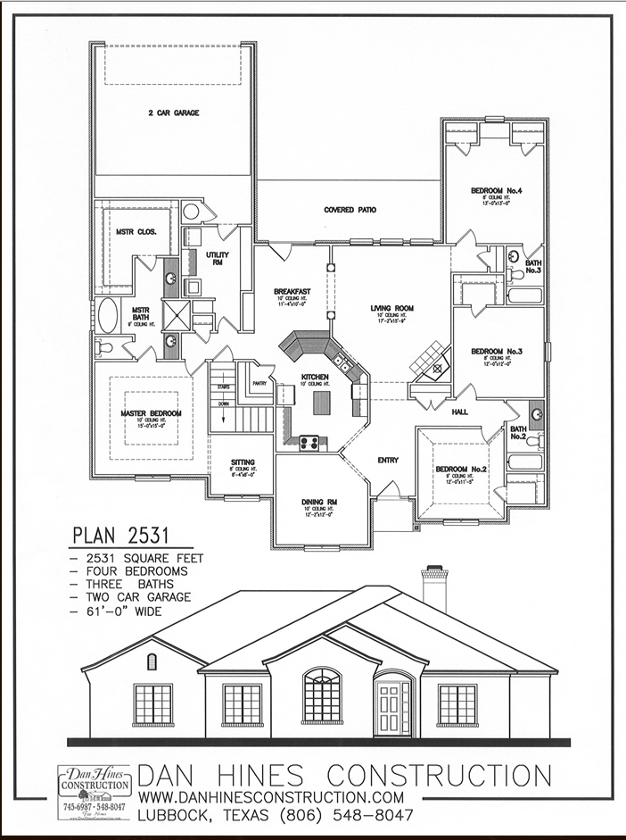 House plans with rear garage entry ranch house plans with for Rear garage floor plans