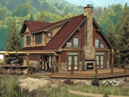 Double wide log mobile home single story log home floor for Ranch log home floor plans
