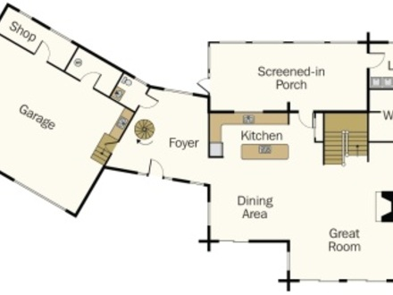 Open Floor Plans Log Home With Plans Log Home Plans With