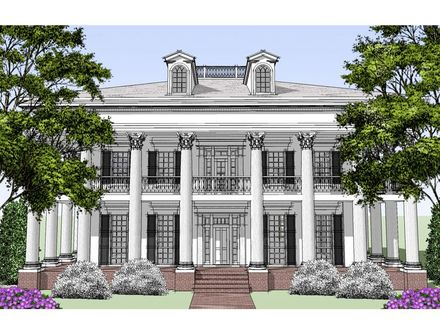 Southern Colonial Style House Plans Tudor Style House