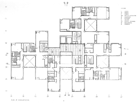 Architectural floor plans with dimensions residential for Full size architectural drawings