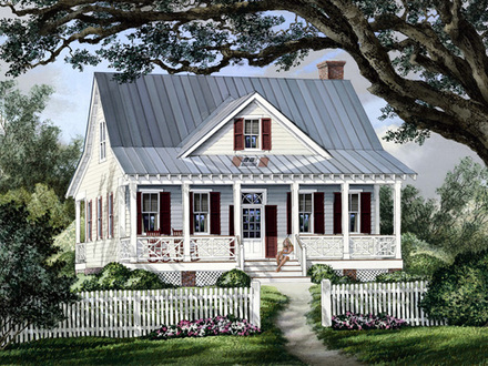 Cottage Country Farmhouse Plan French Country Farmhouse Plans