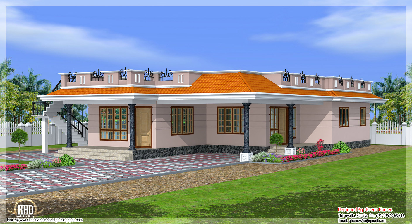 Nice one story houses single story exterior house designs for Exterior design ideas single story houses