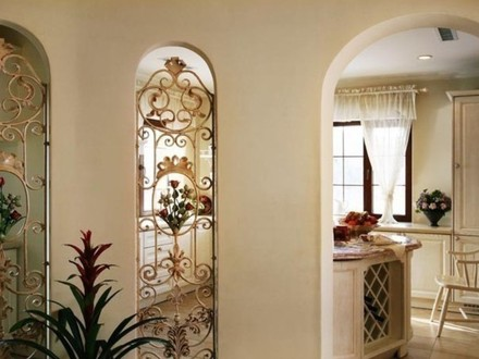 French country brick homes mediterranean home exteriors for Mediterranean interior doors