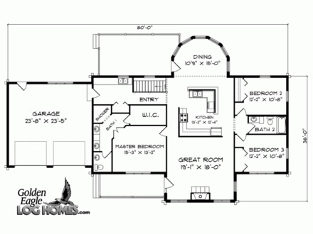 2 Bedroom Ranch Floor Plans Ranch Home Floor Plans