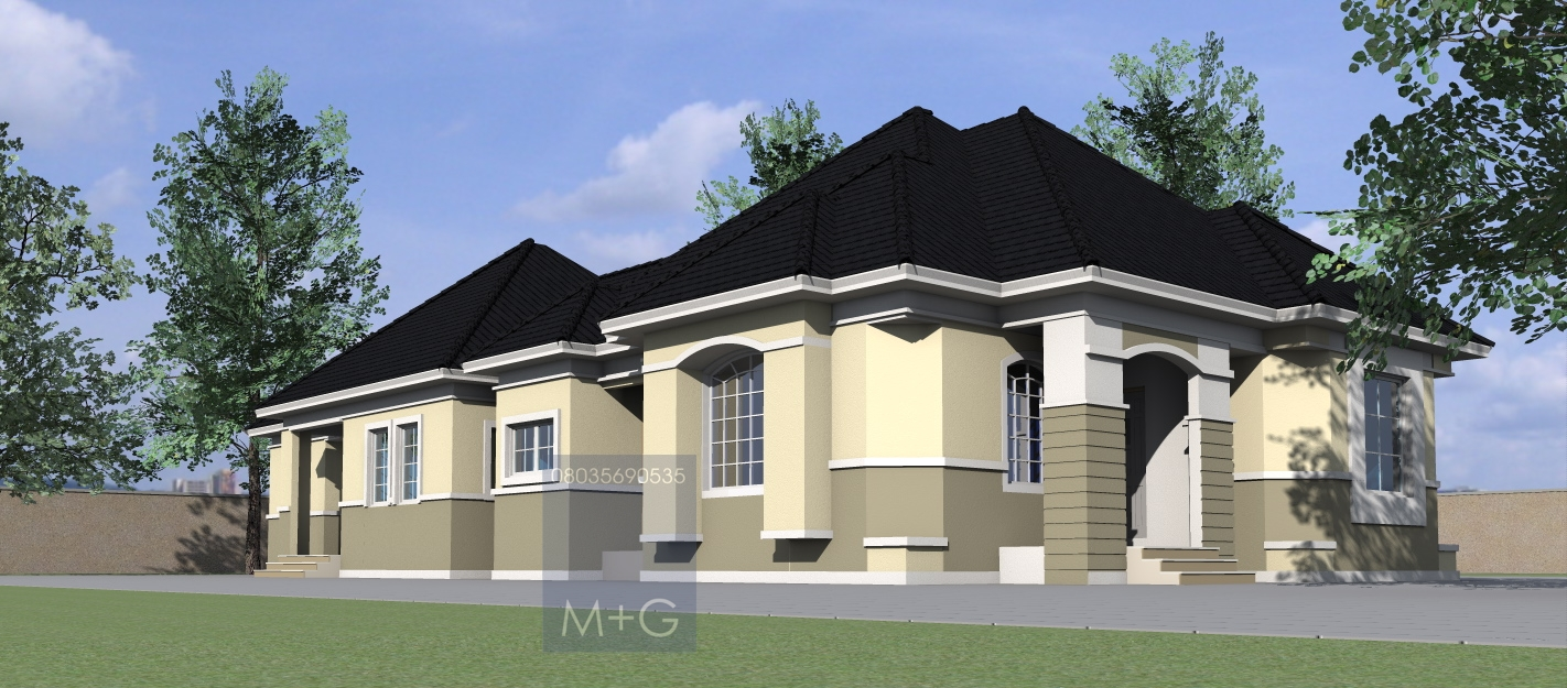 Residential House Plans 4 Bedrooms 4 Bedroom Bungalow