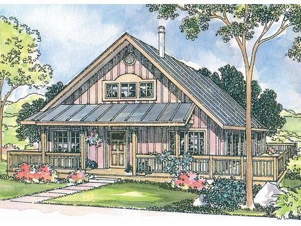 Vacation cabin house plan rustic cabin house plans for Rustic vacation home plans