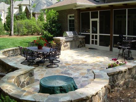 Back Yard Patio Designs Backyard Stone Patio Design Ideas
