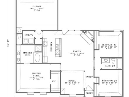 Single story condo floor plans single story with attached for Condo plans with garage