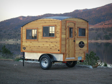 Tiny Trailer Camper Small Wooden Camper Trailer