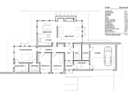 One Story Luxury Home Modern One Story House Floor Plans
