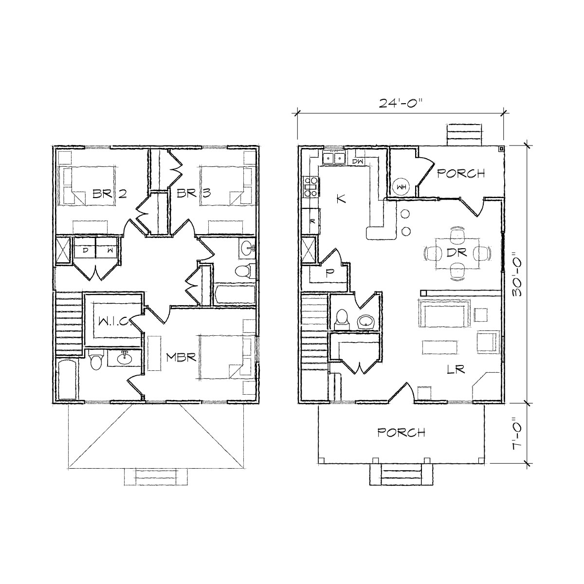 Simple square house plans simple square house floor plans for Modern foursquare house plans