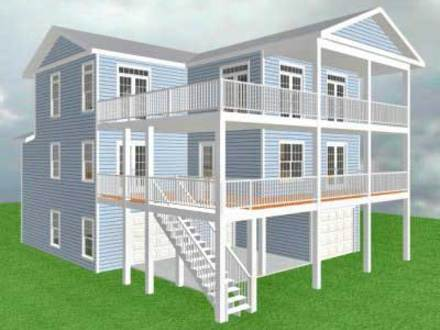 Elevated home plans designs elevated house plans for flood for Home plans with elevators