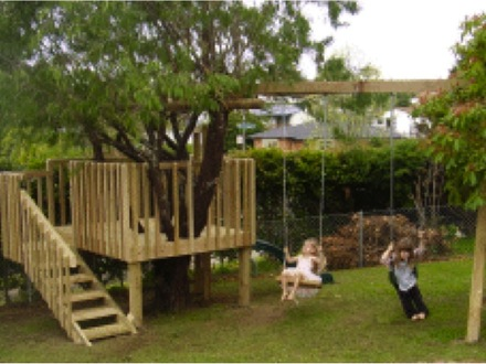 Tree House Tire Swing Tree House and Swing Set Plans
