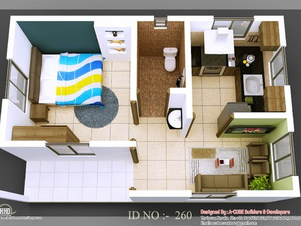 3D Small House Floor Plans Brick Shed Houses
