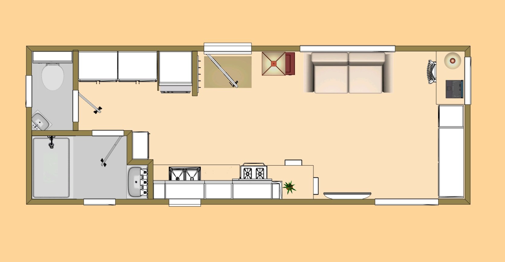 3D Small House Plans Small House Plans Under 1000 Sq FT ...