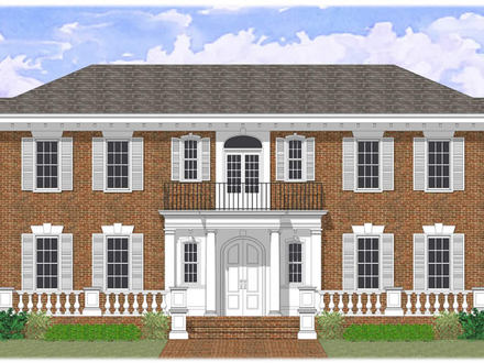 Colonial floor plans center hall colonial floor plans for Center hall colonial house plans