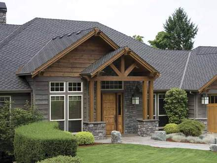 Craftsman One Story Homes with Wrap-Around Porch One Story Craftsman Homes