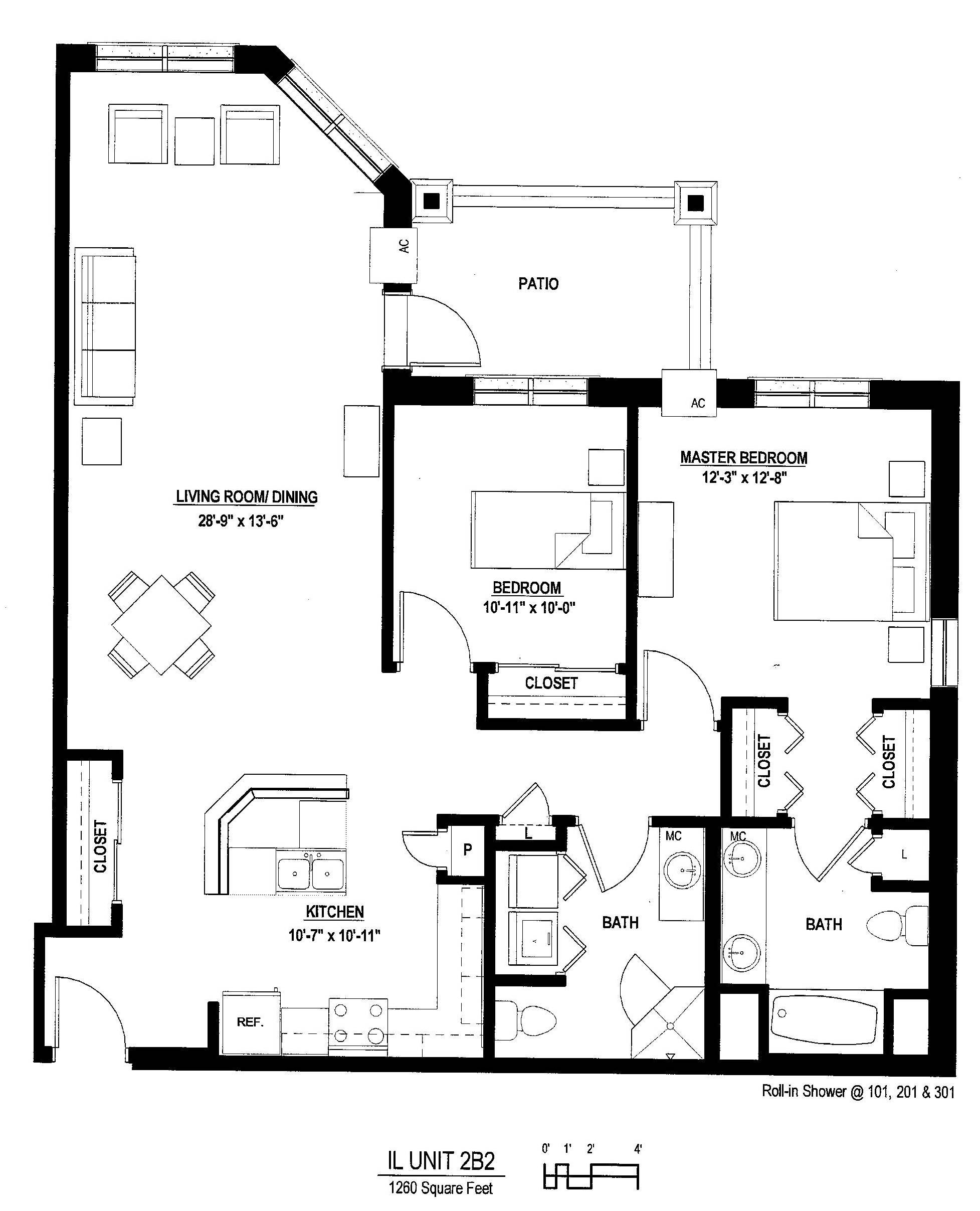 Luxury 2 bedroom apartment floor plan luxury 2 bedroom for 2 bedroom studio apartment plans
