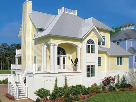 Narrow lot house plans with front garage narrow lot house for Lakefront house plans for narrow lots