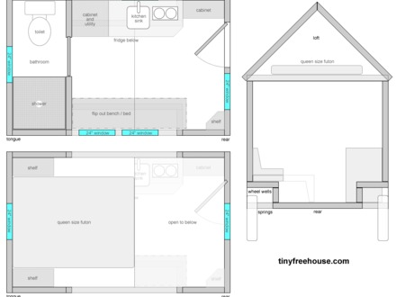 Tiny House Floor Plans with Loft Free Tiny House Floor Plans