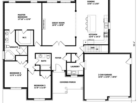 Bungalow house floor plans small bungalow house plans for Craftsman house plans canada