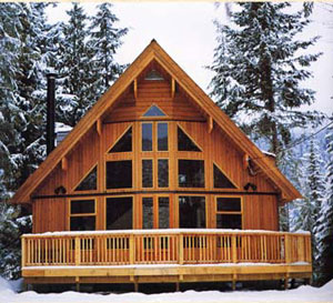 A frame cabin kits cabin chalet house plans chalet plans for Chalet style home kits