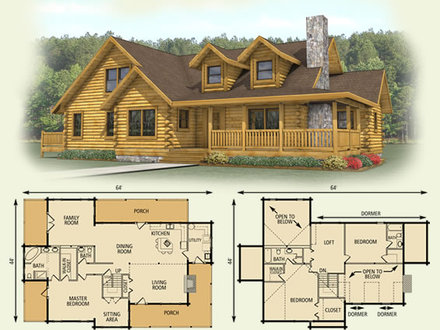 Inside luxury log homes luxury log cabin home log cabin for Log cabin floor plans with garage