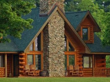 Log cabin kits alpine ridge log cabin logcabinhomes for Pacific northwest house plans