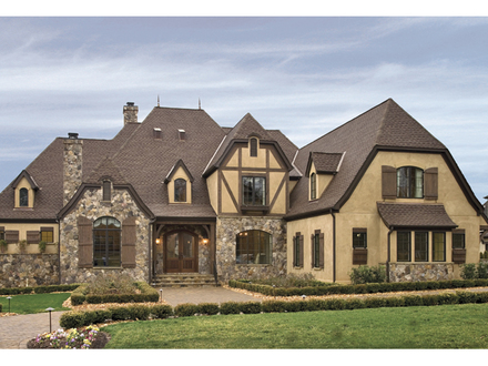 Stucco and stone cottage house plans english stone cottage for Stone and stucco house plans