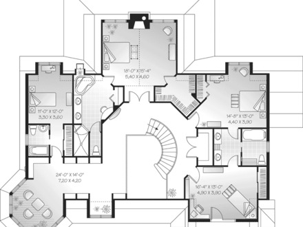 Farmhouse with wrap around porch luxury farmhouse plans Bowling alley floor plans