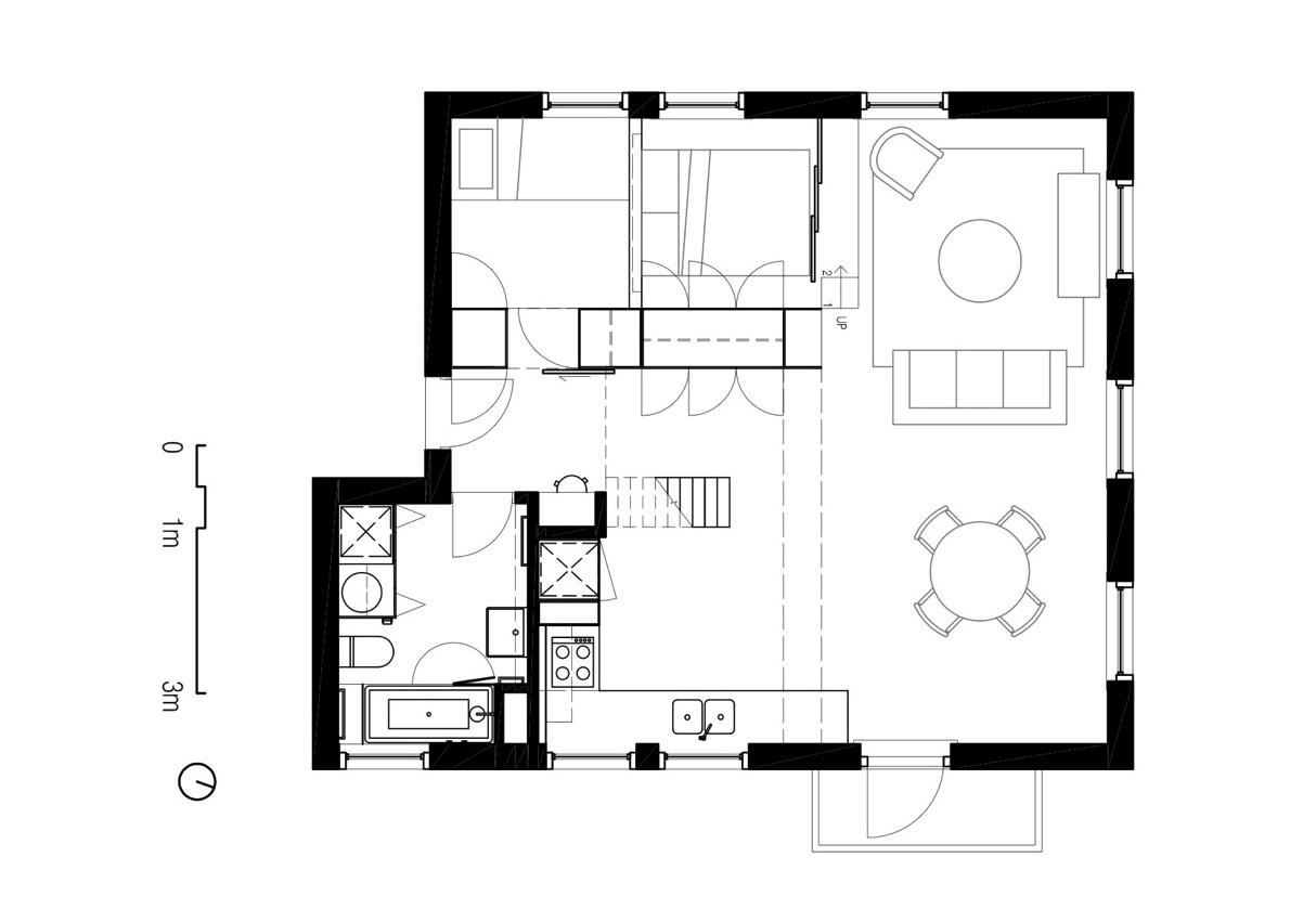 Minimalist home japanese minimalist house floor plans for Minimalist ranch house