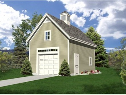 One car garage with apartment plans one car garage with for Single car garage with apartment