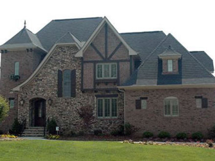 Stone and Brick French Country House Plans Brick and Stone Fireplaces